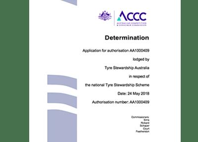 ACCC re-authorises the Tyre Stewardship Scheme