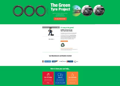 The green tyre message reaches over 1 million Australians