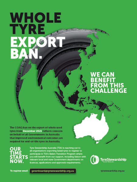 Whole tyre export ban