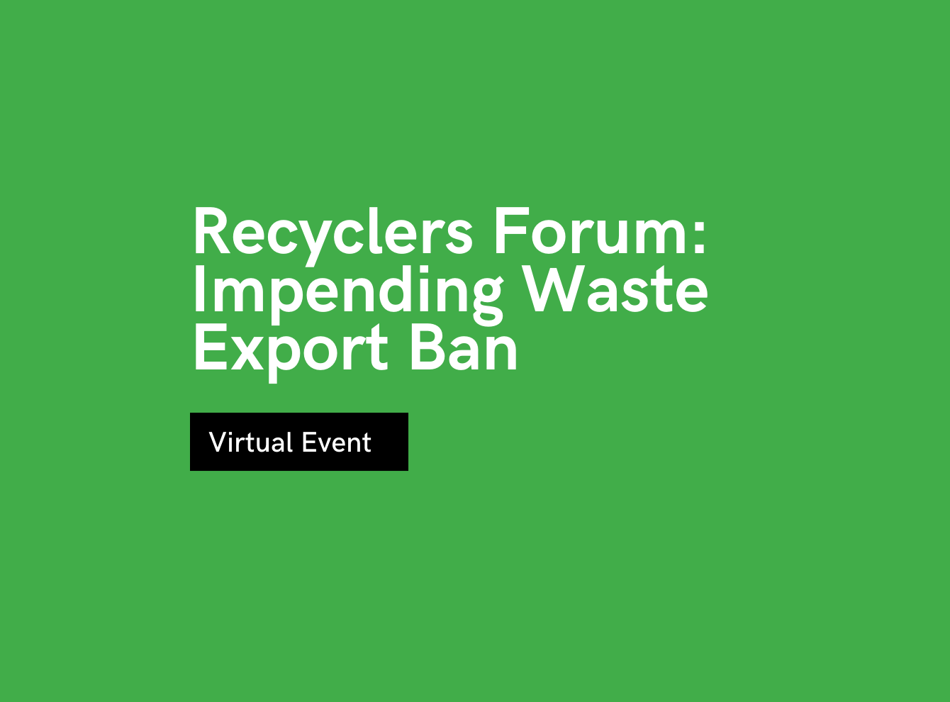 Tyre Recyclers Forum: Impending Waste Export Ban